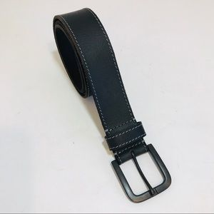 "TIMBERLAND black leather belt 1.5"" wide Size 32"